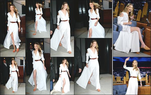 - 15.11.17 ─ Notre Gigi' Hadid est photographiée alors qu'elle quittait son appartement dans les rues de New York ! [/s#00000ize] Plus tard Gi' quittait son appartement pour se rendre sur le studio du Tonight Show animé par Jimmy Fallon ! J'aime beaucoup la tenue qu'elle porte. Top  -