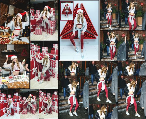 - 14.12.17 ─ Notre Gig' Hadid était présente à un event organisé par la marque « Reebok » dans la ville de New York[/s#00000ize] Après un mois sans nouvelle de notre jolie blonde, nous la retrouvons enfin alors qu'elle partait de chez elle ! J'aime bien la tenue qu'elle portait, un top !  -