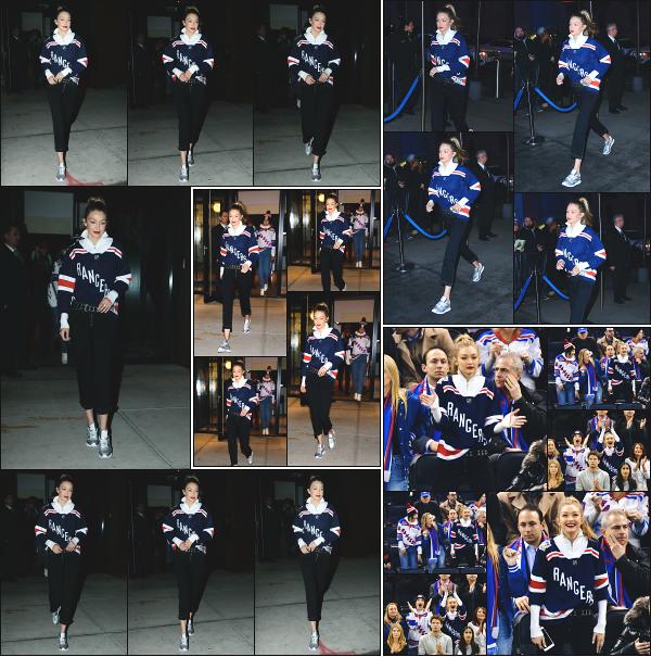 - 19.12.17 ─ Notre Gigi' Hadid est photographiée alors qu'elle quittait son appartement dans les rues de New York ! [/s#00000ize]Gigi quittait son appartement avec sa soeur et son frère ce soir là pour se rendre au match de Hockey des Rangers contre les Ducks ! C'est un beau top ! -