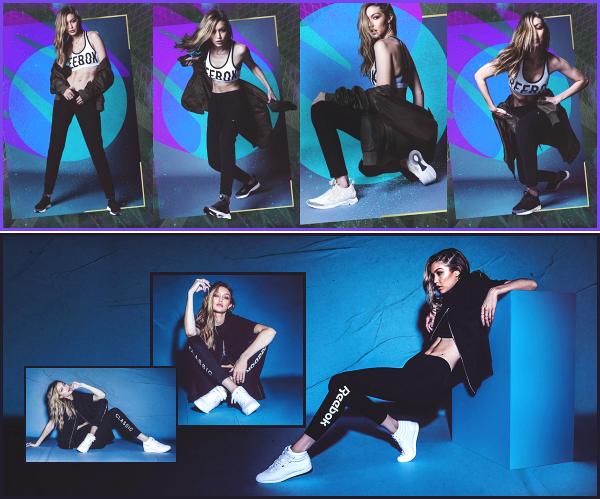 """"""" • Notre belle Gigi Hadid à réalisée un shoot pour la campagne « Reebok's Classic » ! -"""