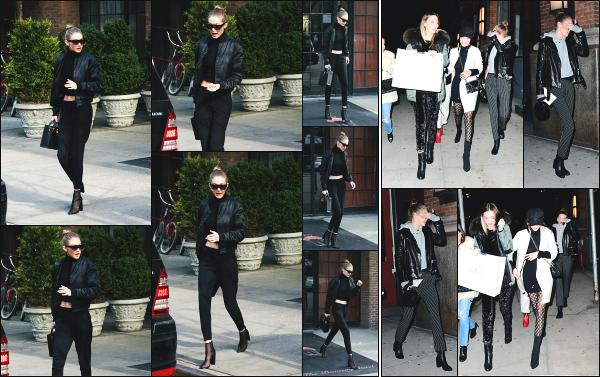 - 02.02.17 ─ La belle Gigi Hadid est photographiée alors qu'elle quittait l'hôtel « Bowery » qui se situe à New York ! [/s#00000ize]Plus tard dans la soirée, Gi' à de nouveau été photographiée, cette fois ci en compagnie de sa soeur, quittant un restaurant, dans une nouvelle tenue, top -