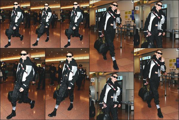 - 25.01.18 ─ Notre ravissante Gigi Hadid est photographiée alors qu'elle arrivait à l'aéroport de Tokyo, au - Japon ![/s#00000ize] G' se rend à Tokyo pour la promotion de sa collaboration avec la marque Maybeline qui n'est autre que la gamme GigixMaybeline ! C'est un flop pour moi -