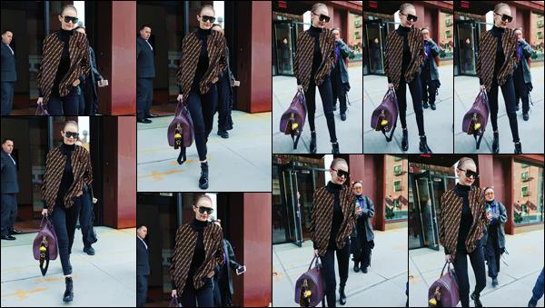 - ''•-20/02/18-' : Gigi Hadid quittait son appartement dans Manhattan pour prendre un vol en direction de Milan. La Fashion-Week se poursuit maintenant à Milan en Italie et G. tout comme sa petite s½ur, ne manque pas d'être présente. Un petit bof ! -