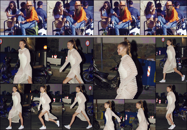- ''•-29/06/18-' : Gigi Hadid se rendait au night-club « Bonbonniere » qui se trouve sur l'île de Mykonos en Grèce. Plus tôt en journée, Gigi Hadid a été photographiée avec ses amis dans une voiturette de golf, pour visiter l'île de Mykonos. Un petit top ! -