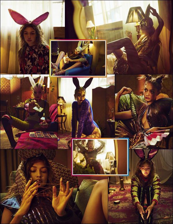 - '-LOVE ●- Gigi Hadid prend la pose pour le « LOVE Magazine » qui célèbre ses 10 ans d'activité ! -