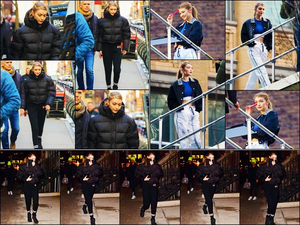 -07/03/2019- ─ Gigi Hadid a été photographiée, alors, qu'elle arrivait sur un set de photoshoot de Maybelline à New-York.La mannequin a ensuite été photographiée sur le set puis arrivant à son appartement dans New-York. Concernant sa tenue, c'est un petit top de ma part.