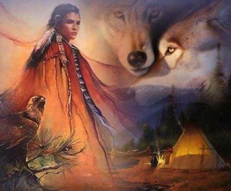 Amérindienne,Aigle,Loups,Tipi (l) - Blog de Chenoa07