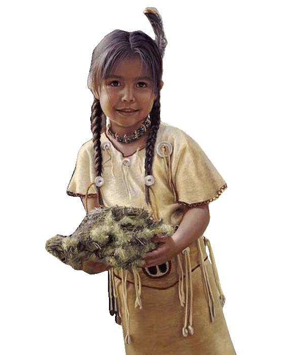 Fillette amérindienne (l) (l) (l)