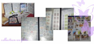 Collection des timbres