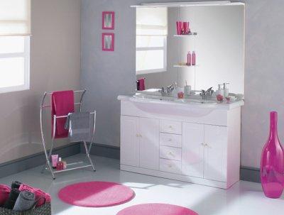 meuble salle de bain et poêle a bois