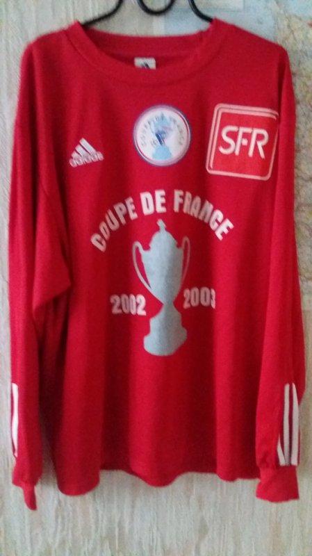 caen maillot  coupe de france préparé aubry 2002/2003