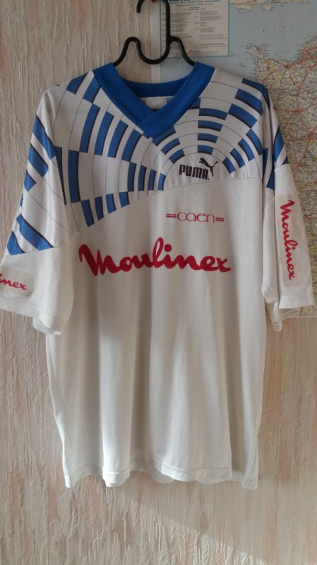caen  maillot exterieur 1ere version saison 92/93