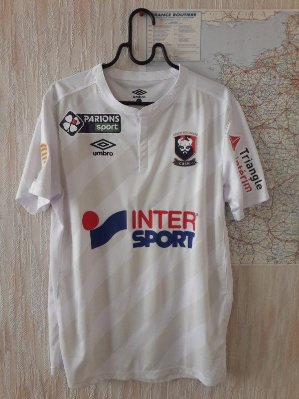 caen maillot porté a lorient le 24/10/2017 16e de finale coupe de la ligue 2017/2018