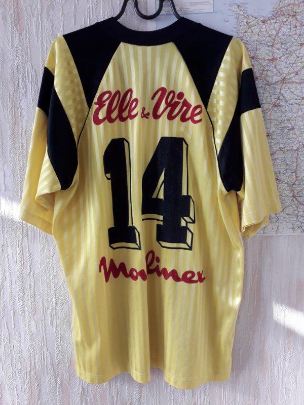 caen  2eme maillot exterieur 1ere version 91/92