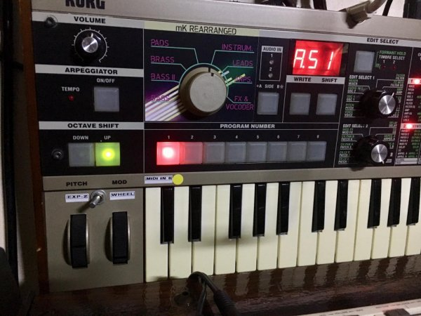 My MicroKorg modifier and rearranged