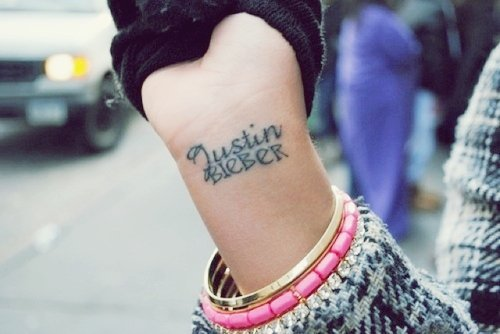 @ Tatouage , Justin Bieber.