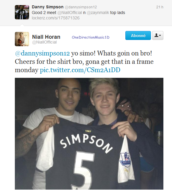 18 Jan 2012 : Niall & Zayn ont été apreçu à une soirée + Niall via Twitter