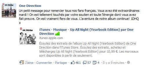 Message spécial du groupe pour les fans Français !