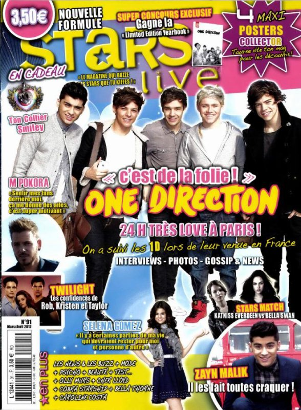 """Magazine We Love Pop - Mars 2012. + New video in the onedirectionchannel YouTube channel + Rumeur + NEWS + Rappel + 11Mars2012 : Répétition pour le """"Today Show"""" + Pour les gens qui mon demander la vidéo ou les Boys gagne le Brit"""