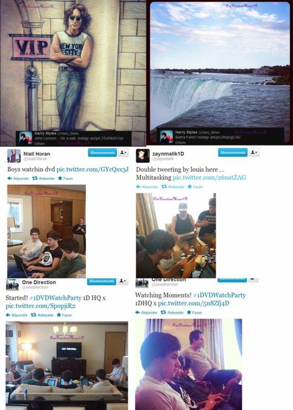 Josh et Andy (nouveau garde du corps des garçons + Les Boys hier a Toronto 30 mai + Les boys et Eleanor Chutes du Niagara ; 30 mai 2012. + Via Twitter +  Olly Murs feat Niall chante 'Skips a beat' acoustique  + Lien +  News/Rumeurs ...