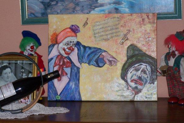 offert à un ami passionné par les clowns