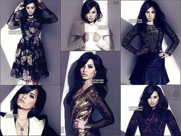 Demi fait la couverture du magasine Fashion Magasine pour le mois d'Août 2013