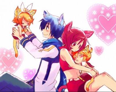 Meiko, Rin, Len et Kaito