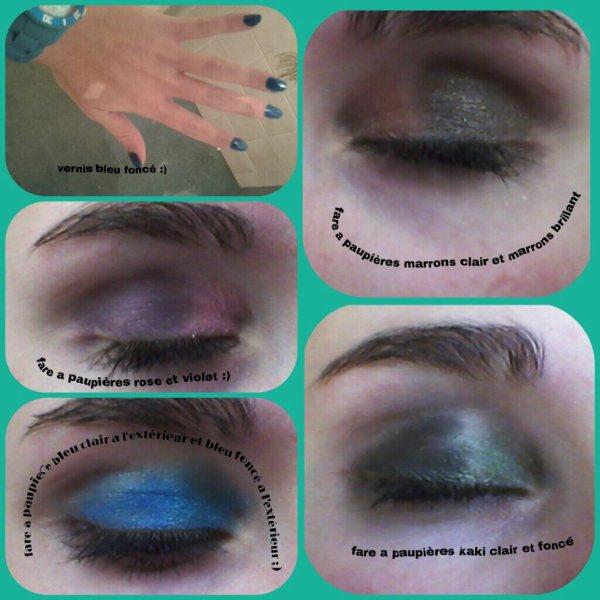 pour m occuper j'ai fais différents style de maquillage (fare a paupières )