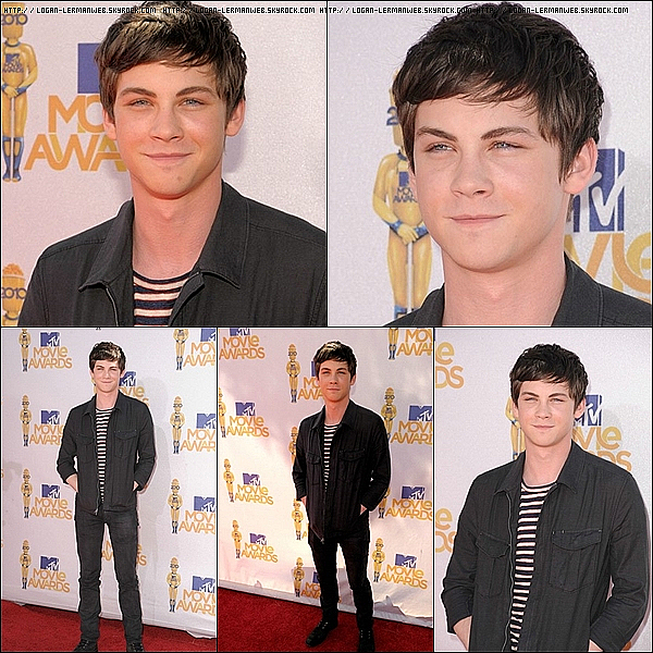 ". Flashback:Red carpet'  Juin 2010: Logan au ""MTV Movie's Awards"".Il a été nominée dans 2 catégories,mais n'a malheureusement rien remporté...   ."