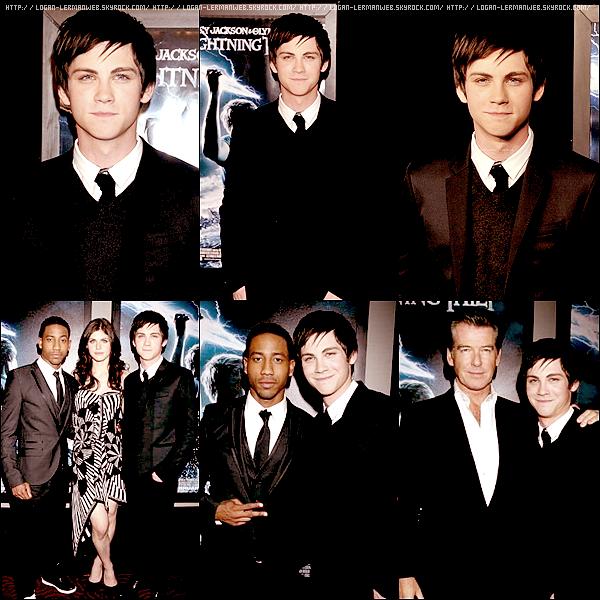"""Flashback:promo'  04/02/I0: Logan et tout le cast du film à New-York pour l'avant première mondial de """"Percy Jackson & le vouleur de foudre""""."""