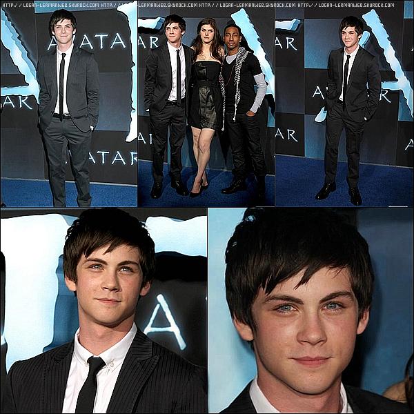 """Flashback:Event'  16/12/09: Logan et ses co-stars de """"Percy Jackson"""" à l'avant-première d'Avatar à LA."""