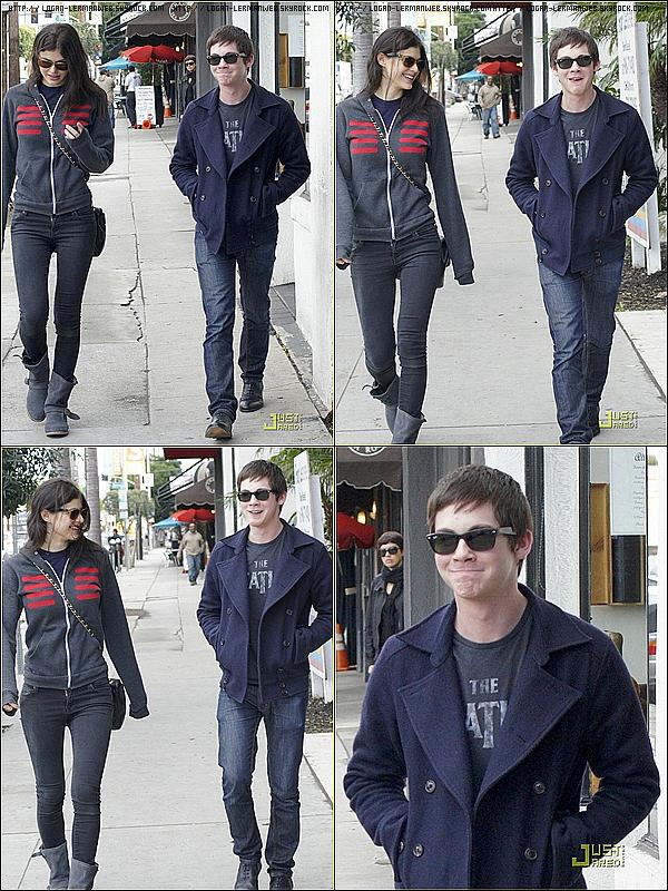 16/02/11: Logan donne enfin des news ! Il était hier avec Alexandra Daddario (sa co-star dans Percy Jackson) pour dejeuner dans l'est d' Hollywood.