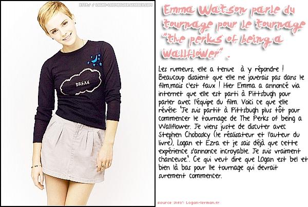 """Voici des nouveaux clichés des """"3 mousquetaires"""".     +Emma Watson parle du cast de """"The Perks of Being a Wallflower""""."""