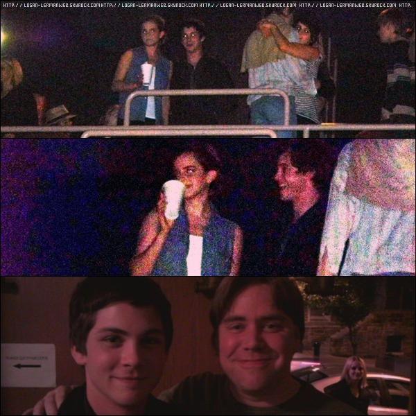 """Emma et Logan au """"Rocky Horror Show"""" pour les besoin d'une scène."""