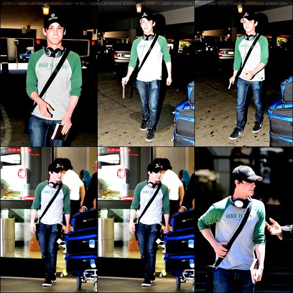 30/06/11: Logan à l'aéroport de LAX.Un flop pour sa tenue,il aurait pu mieux faire...