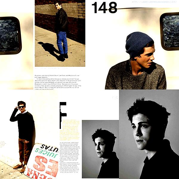"""Voici quelques pages du magazine """"Nylon Guy's"""" dont Logan fait quelques pages pour l'édition de Septembre."""