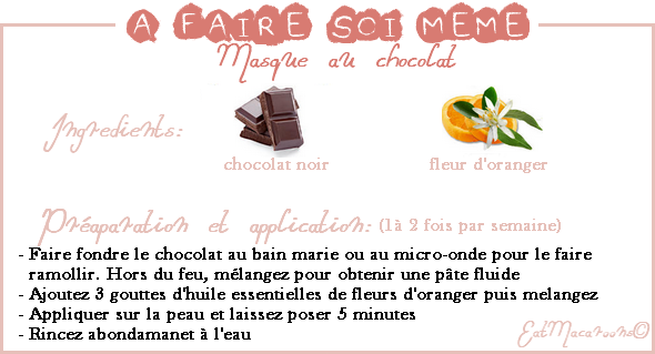 • Faire son masque au chocolat