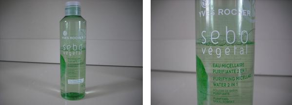 • Test: eau micellaire sebo vegetal Yves Rocher