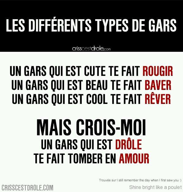 Les différents types de gars !