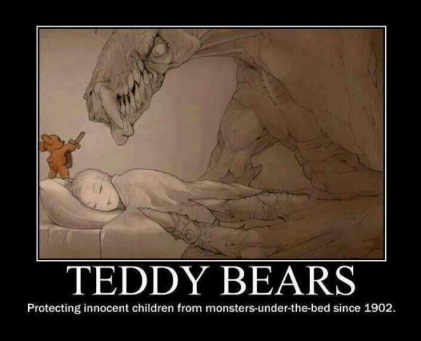 Who dare to fight with teddy good night