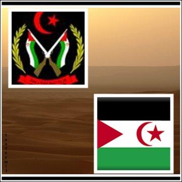 Bandera y Escudo de la República Árabe Saharaui Democrática