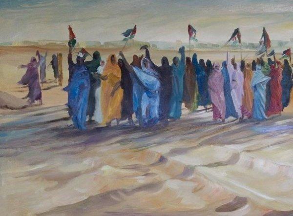 Obra del pintor saharaui Fadel Khalifa