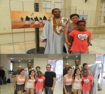 Inauguración de la exposición del pintor saharaui Fadel Jalifa en Almeria
