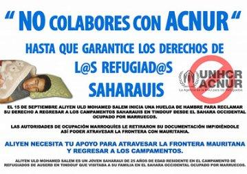 CIBER-ACCIÓN POR EL REFUGIADO SAHARAUI ALIYEN ULD MOHAMED SALEM