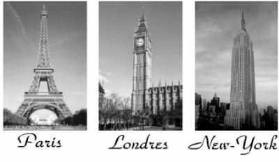 Paris londres new york bulle de couture for Tableau paris londres new york