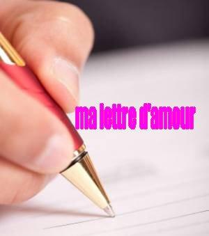 ma lettre d'amour