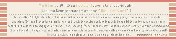 """Fabienne Carat dans l'emission """" Noël , sous les étoiles ! """""""