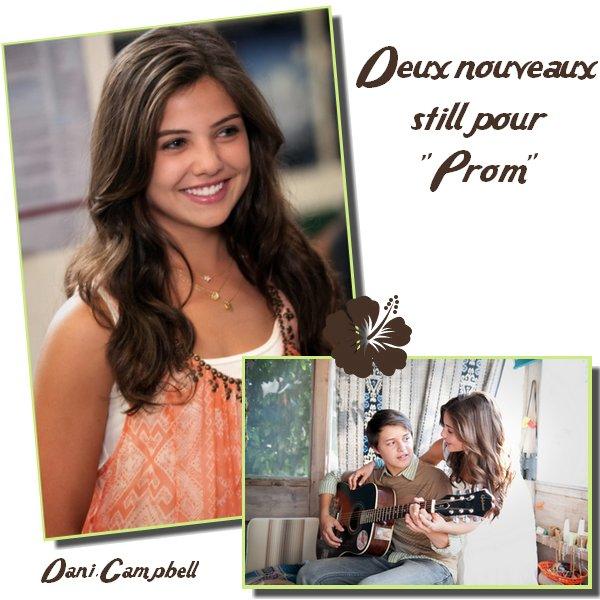 """Deux Nouveaux Still de Danielle pour le film """" PROM"""", qui sortira aux USA le 29 avril Prochain.Sur la photo où Danielle est toute seule ( en même temps, la photo où elle est avec sa co-stars, on  ne vois pas son visage x) ), je la trouve MAGNIFIQUE.Ton avis ?"""