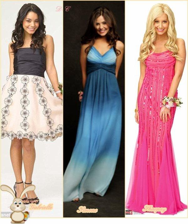 """""""Prom"""" est aparament une sorte de """"suite"""" d'High School Musical. Qui est la plus belle en robe de bal alors entre: Gabriella Montez ( Vanessa Hudgens), Simone Daniels (Danielle Campbell) et Sharpay Evans ( Ashley Tisdale ) ?"""