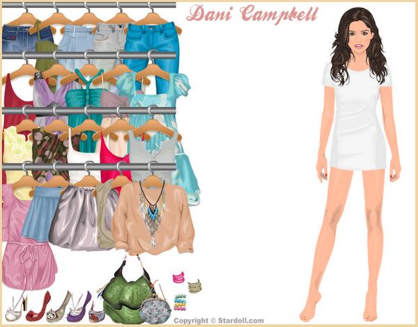 Pas de news de notre Miss, mais j'ai quand même trouvé un petit truc :p Sur StarDoll's, maintenant, tu peux habillée Danielle :) J'adore commet elle est dessiné ^^ Tu peux l'habillé en allant ici  Ton avis ?
